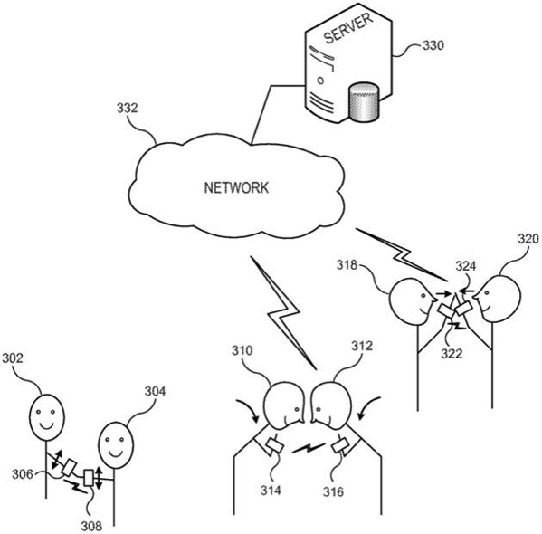Apple watch handshake patent