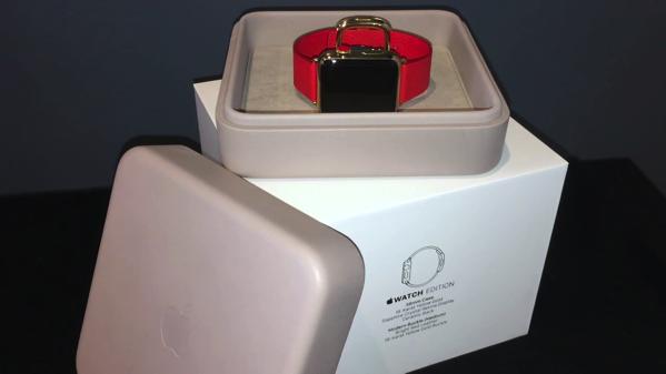 """これが最高級Apple Watch!200万オーバーの「18Kイエローゴールドケース/ブライトレッドモダンバックル」モデルの""""開封の儀""""動画が登場!"""