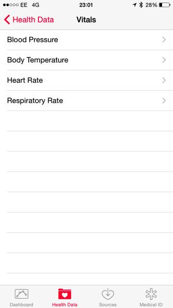 Apple Watch Health app