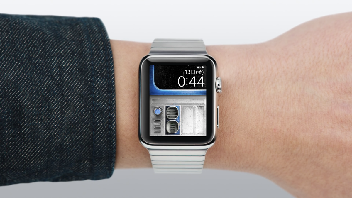 Watch hands on mockup