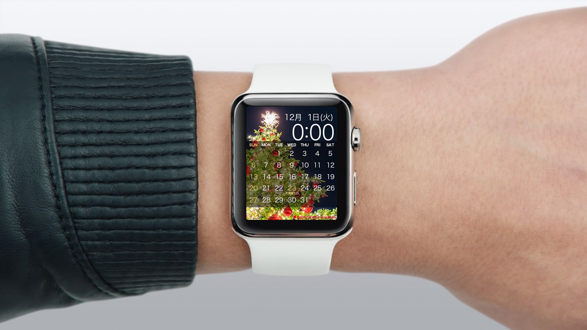 Applewatchjournalオリジナルのapplewatch用カレンダー壁紙 15年12月版 Apple Watch Journal