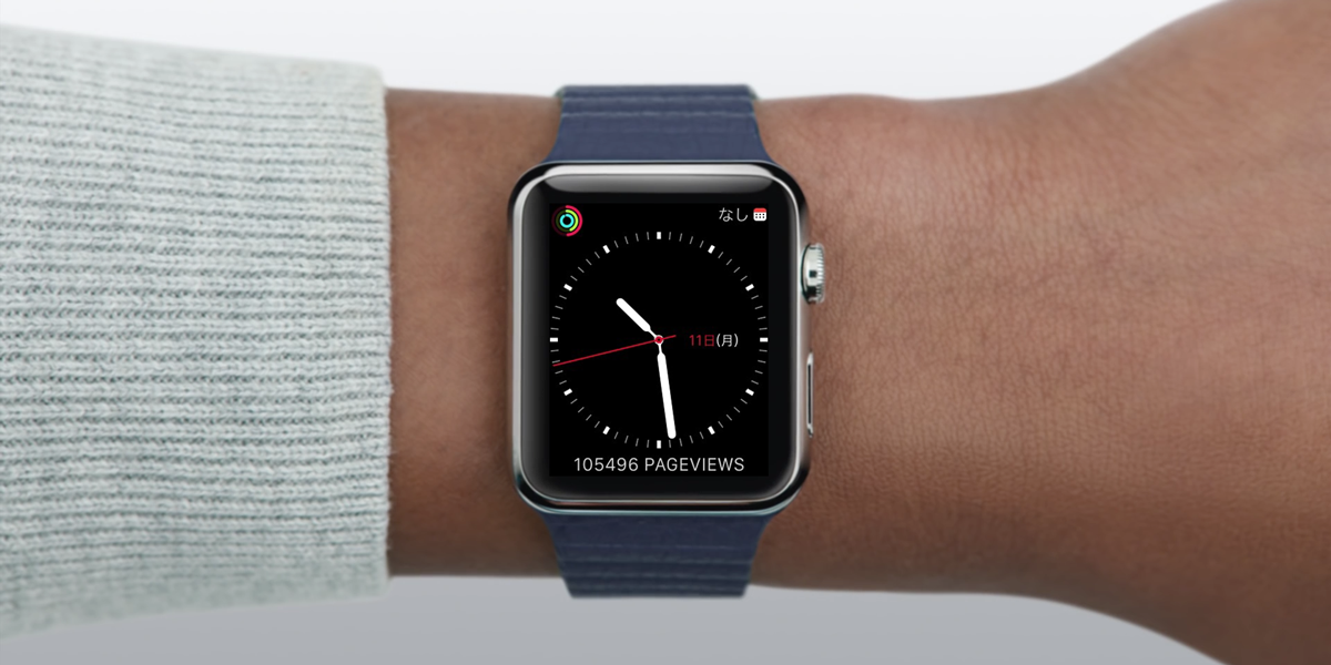 PVが気になってしょうがないブロガー必携!Apple WatchのコンプリケーションにGoogle AnalyticsのPVデータを表示するアプリ「Glimpse」