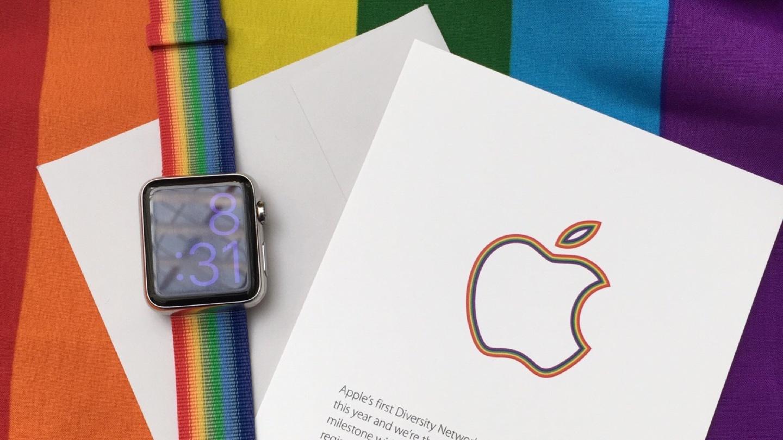 AppleがLGBTプライドイベントへ参加:限定レインボーカラーのApple Watch用ウーブンナイロンバンドも登場!?