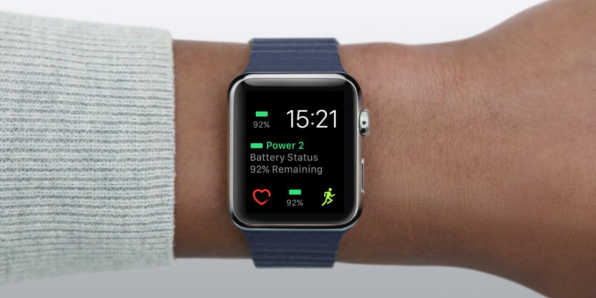 コンプリケーションでiPhoneのバッテリー残量をサクッと確認!Apple Watchアプリ「Power 2」が便利