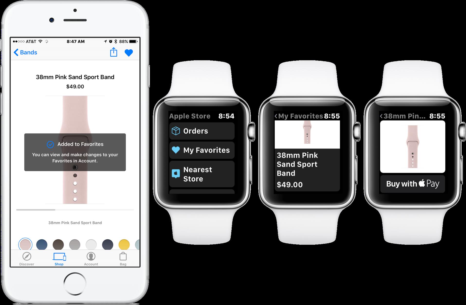 Apple Watch向けのApple Storeアプリで商品の購入が可能に!今後のWatchアプリの新たな収益モデルになるか?