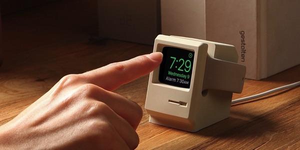 Appleの往年の名機「Macintosh 128K」がApple Watchの充電スタンドに!?