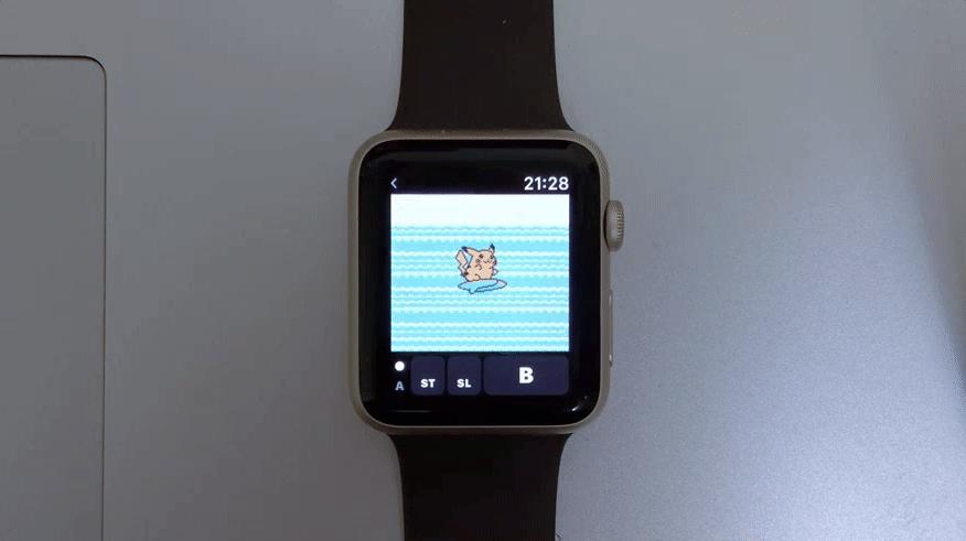 AppleWatch上でゲームボーイカラーが動く!?初代「ポケットモンスターピカチュウバージョン」をAppleWatchでプレイする猛者が登場