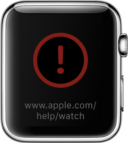 Watch recovery url red exclamation