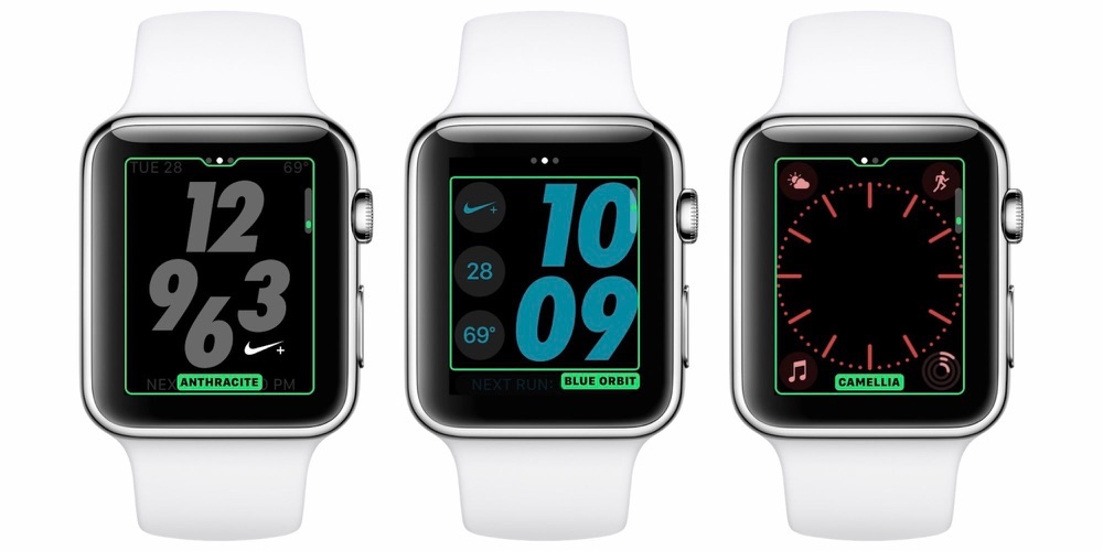 watchOS 3.2、新色バンドの販売に伴い文字盤に新色を追加!Nike+専用文字盤にも6色の新色が登場!