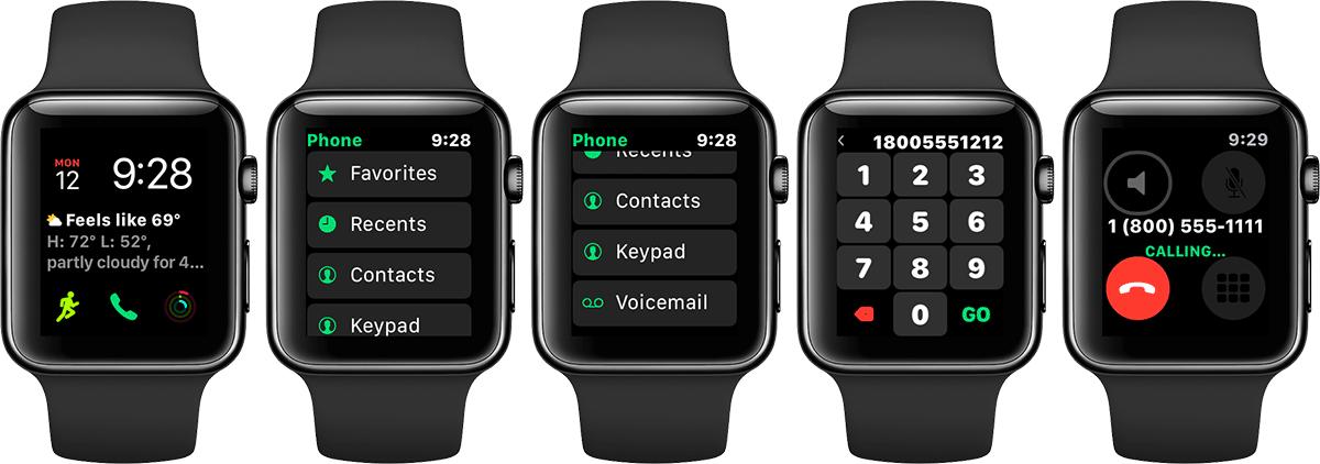やはり次世代AppleWatchはLTE通信をサポート?watchOS 4の「電話」アプリはキーパッドが利用可能に