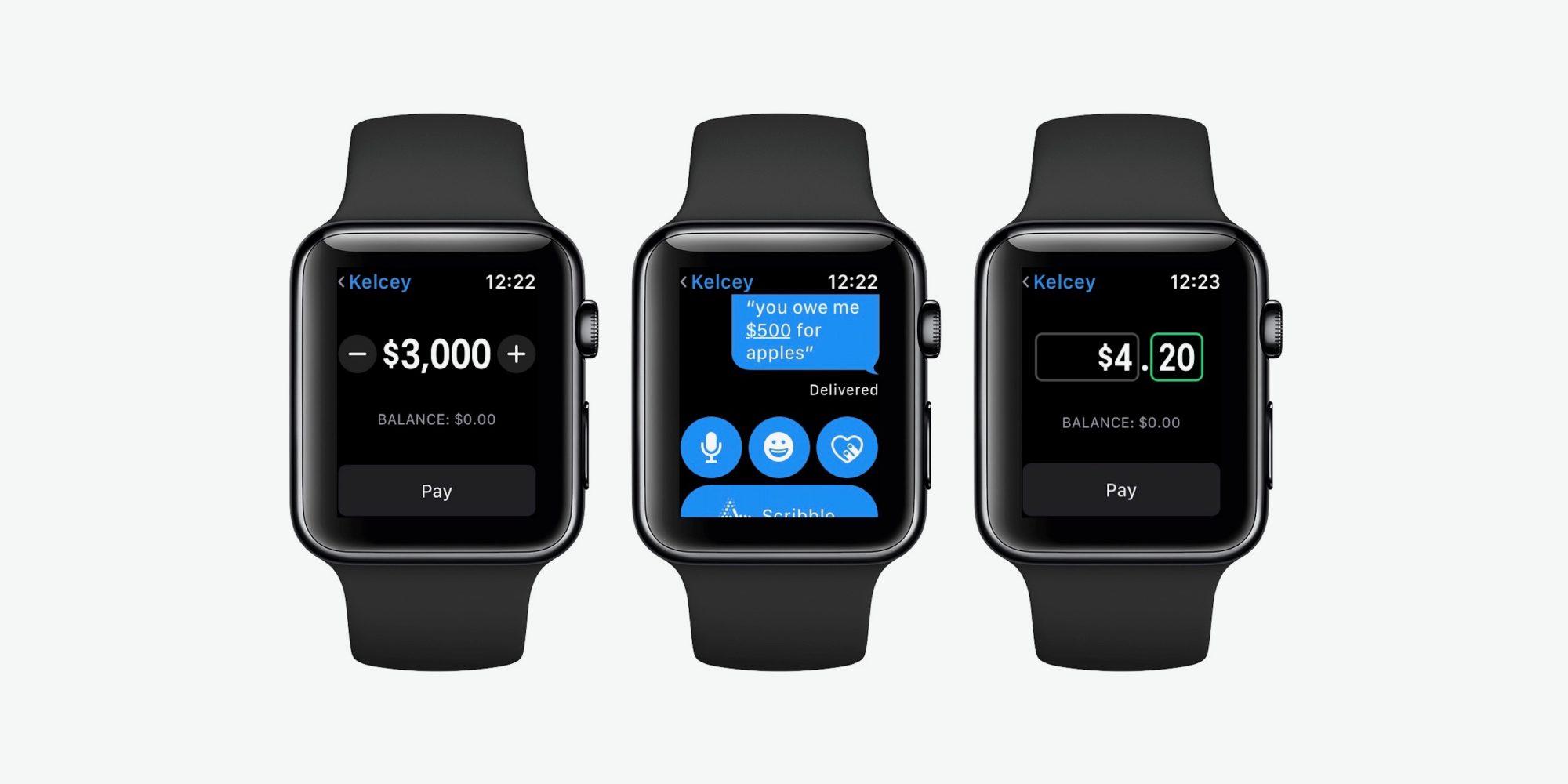 Apple pay cash watch