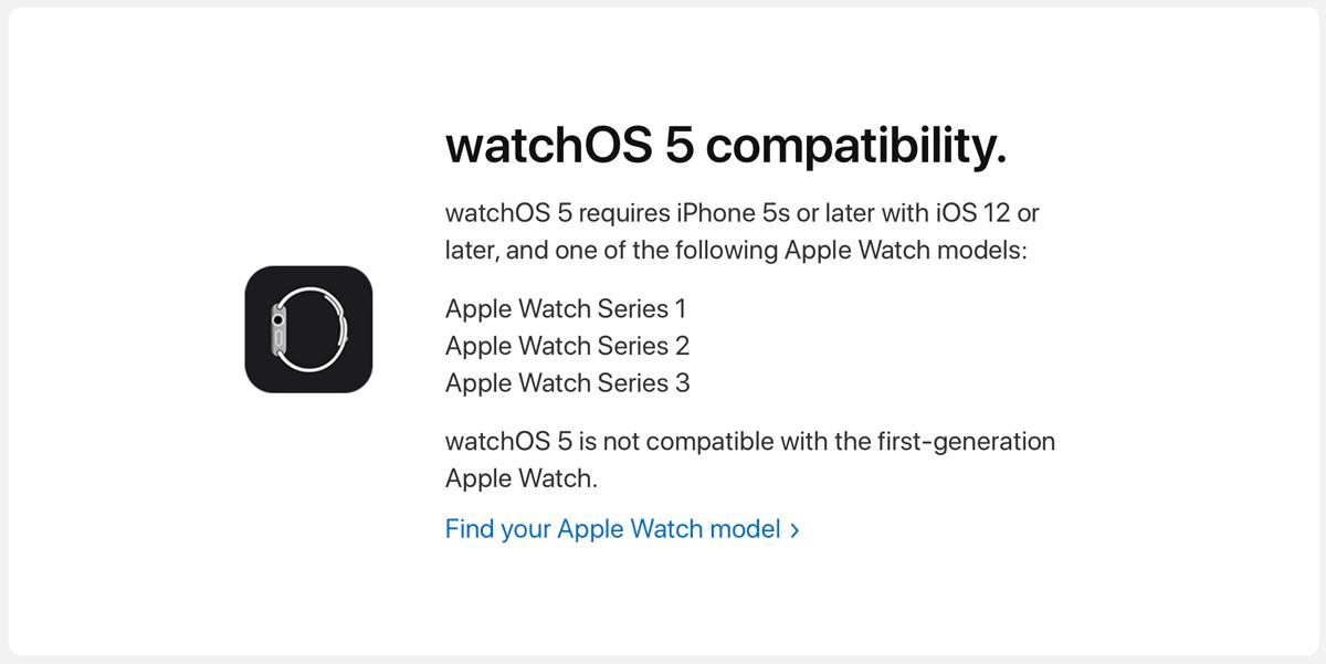 watchOS5、初代AppleWatchはサポート対象外に