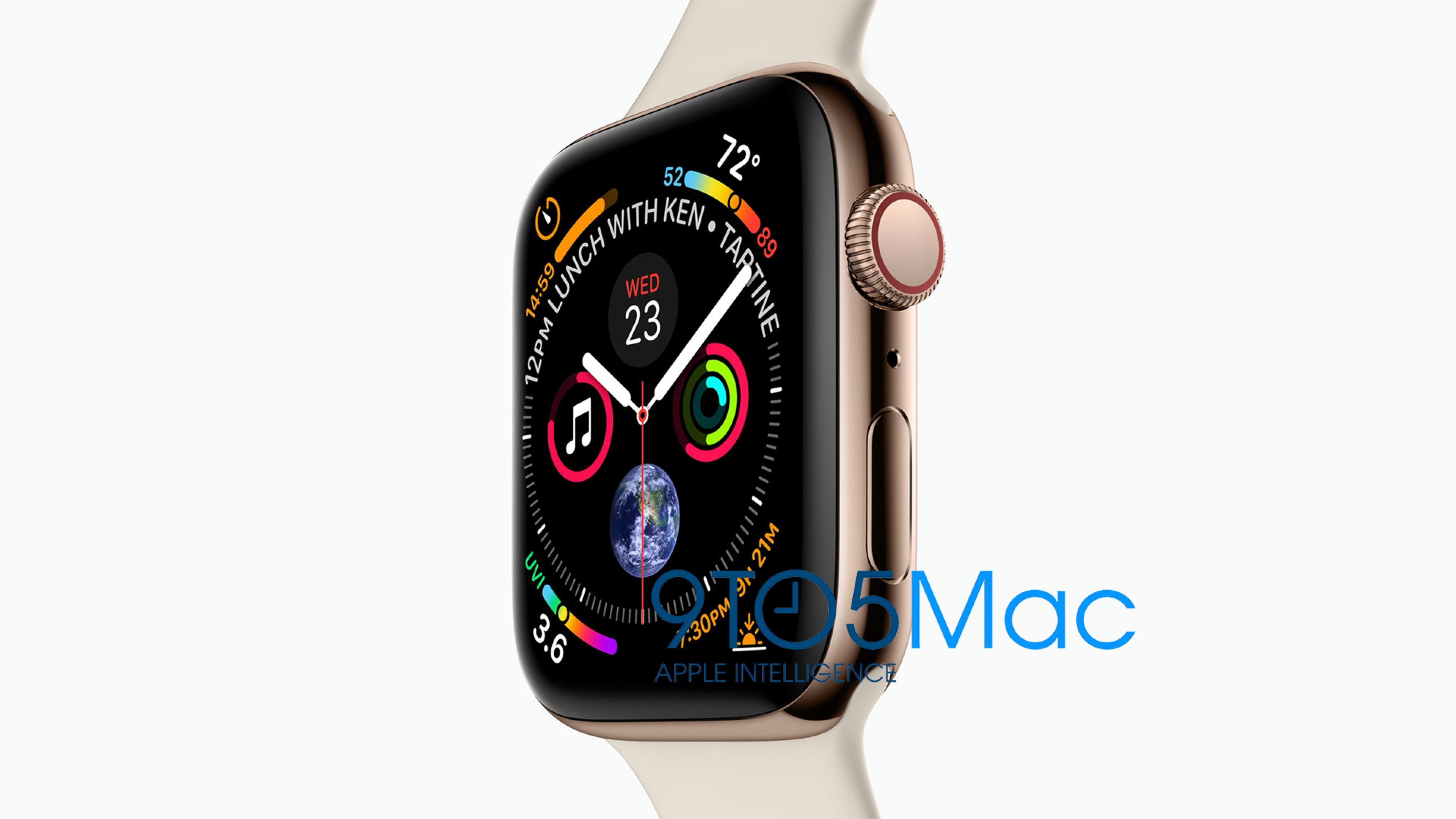 AppleWatch Series4のリーク画像が公開!ベゼルレス!ゴールドステンレス(?)の新色ケース!新しい文字盤!