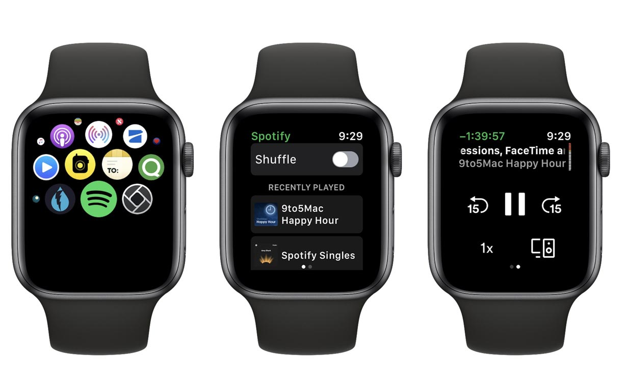 SpotifyのAppleWatchアプリがついにリリース!(ただし、機能はかなり限定的…。)
