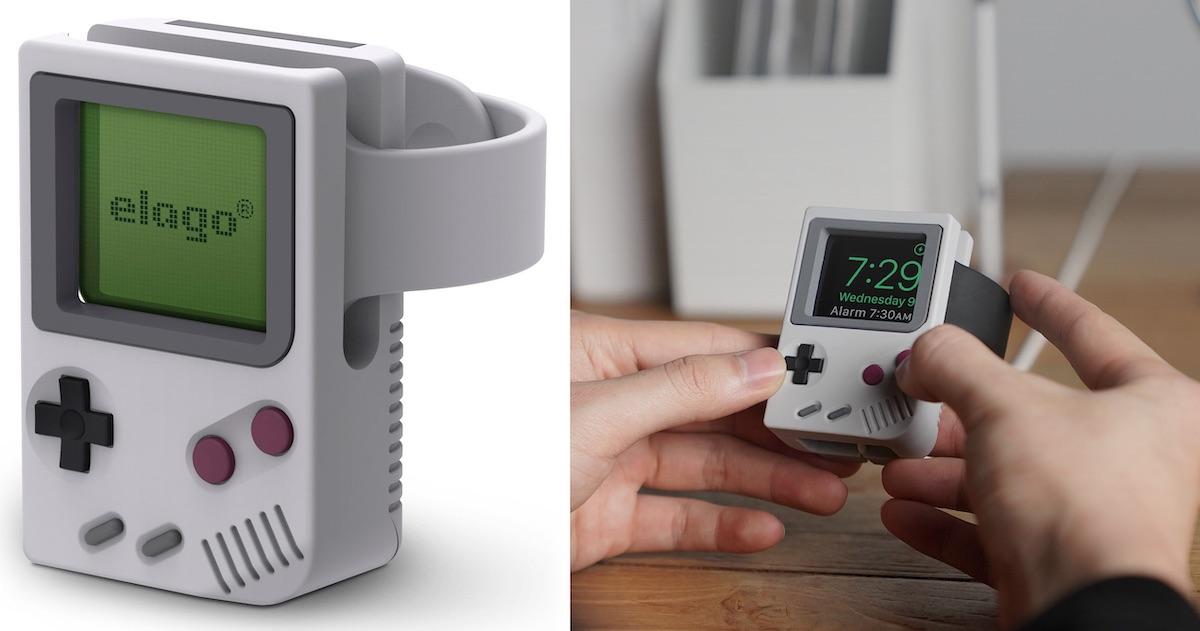 AppleWatchをゲームボーイ化!Mac風スタンドでお馴染みのElagoが新しい「W5スタンド」を発表