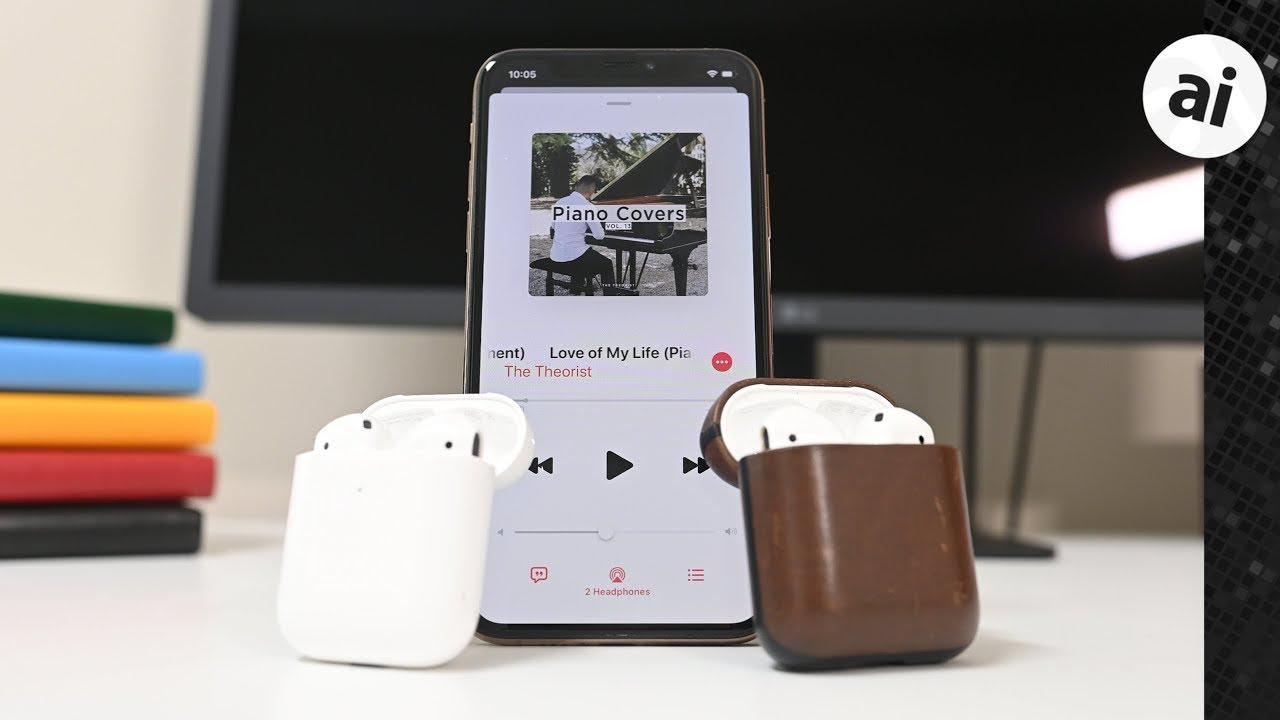 iOS13、1台のiPhoneに2つのAirPodsを接続して音楽を再生する機能を追加!