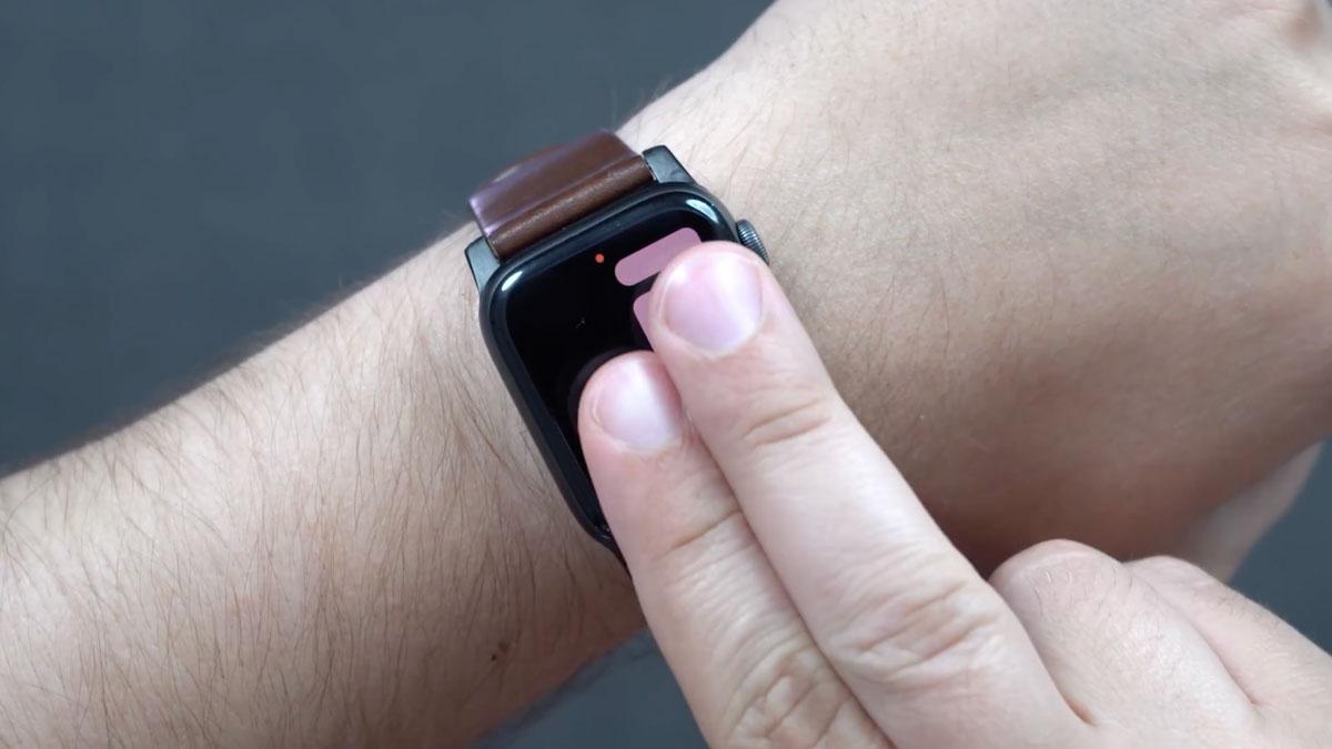 watchOS 6のハンズオン動画:画面を2本指タッチで時刻の読み上げ機能など