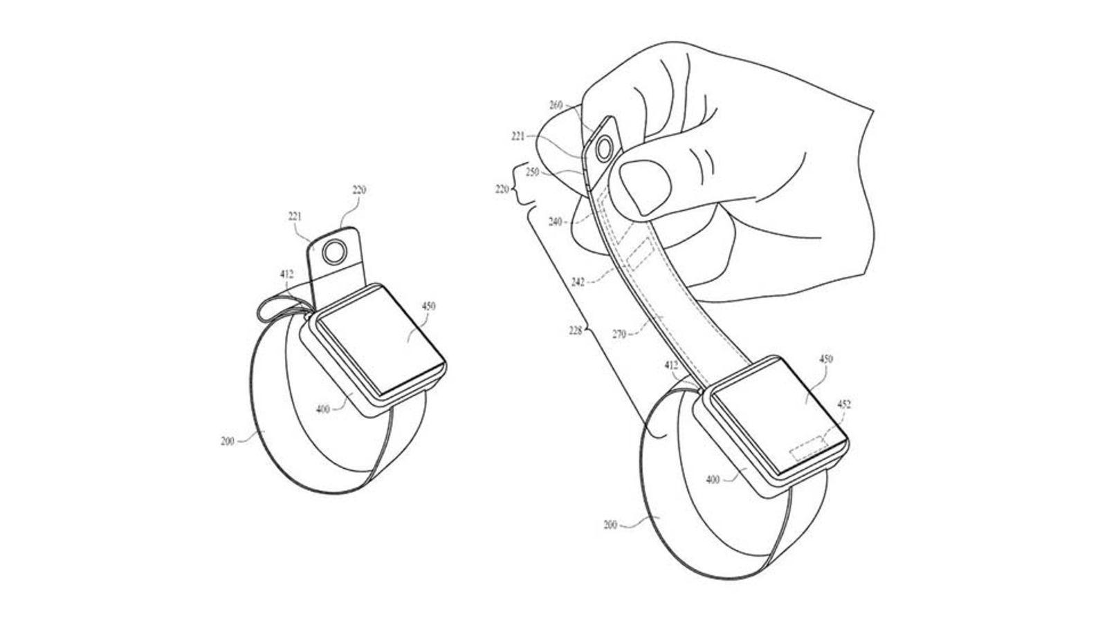 Apple、内蔵したカメラを引き出せるAppleWatch向けバンドの特許を取得!