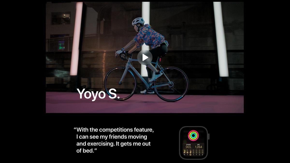 Apple、「Close Your Rings」のページを更新!新たに3人のAppleWatchユーザーを紹介