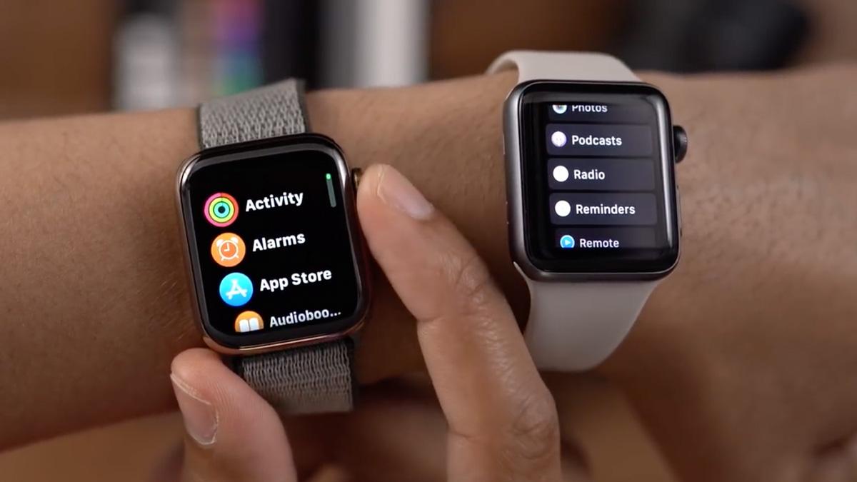watchOS 6のホーム画面で「リスト表示」のデザインがアップデート!