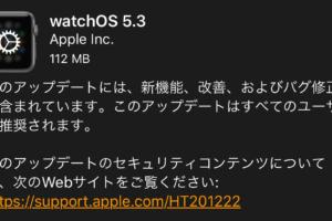 watchOS 5.3が公開!トランシーバーの不具合の修正など