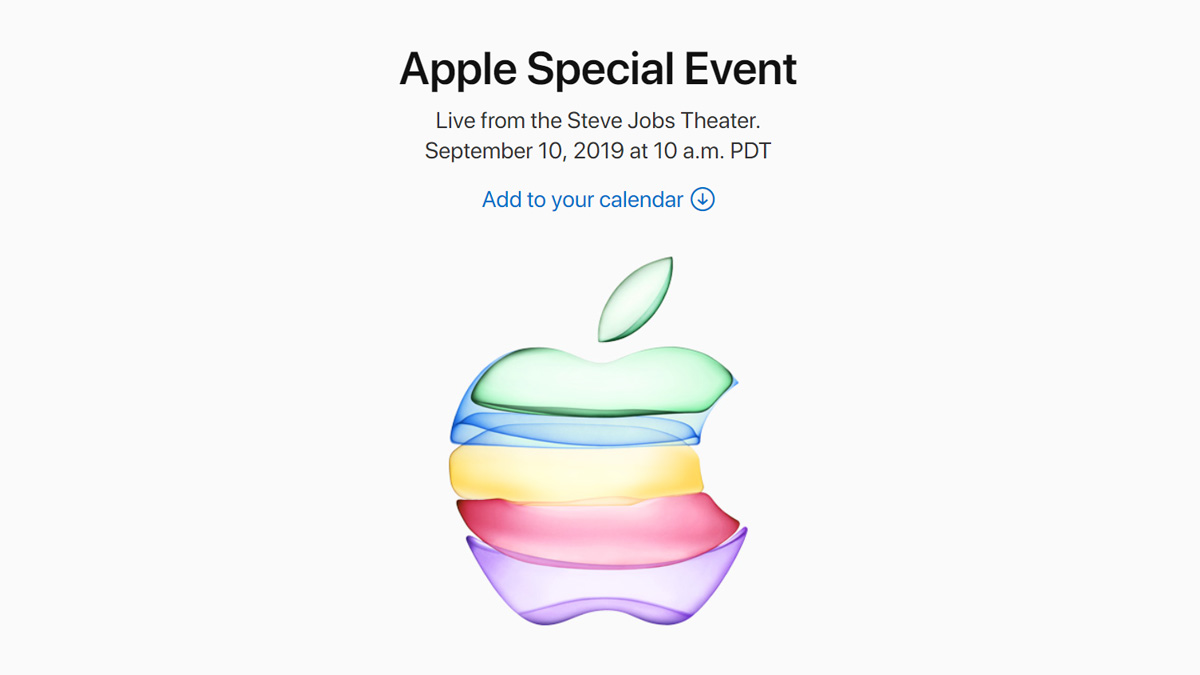 Appleのスペシャルイベントが正式発表!日本時間の9月11日午前2時から