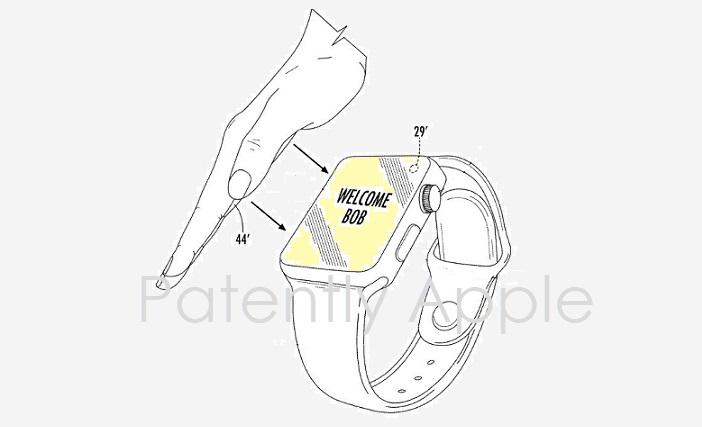 AppleWatch向けの新たな生体認証の特許を申請!画面に手のひらをかざして認証!?