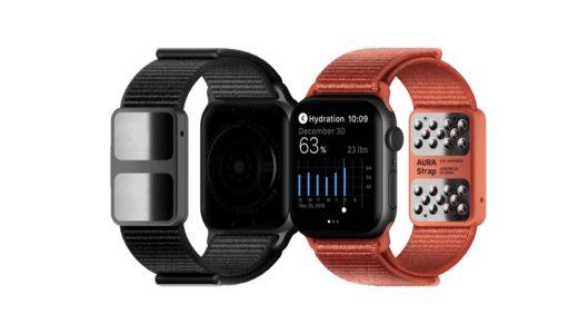 Aura、体組織を計測できるApple Watch向けバンド「AURA Strap(オーラ・ストラップ)」をCES2020で発表!2020年3月発売予定