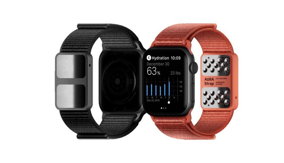 体組織を計測できるApple Watch向けバンド「AURA Strap(オーラ・ストラップ)」