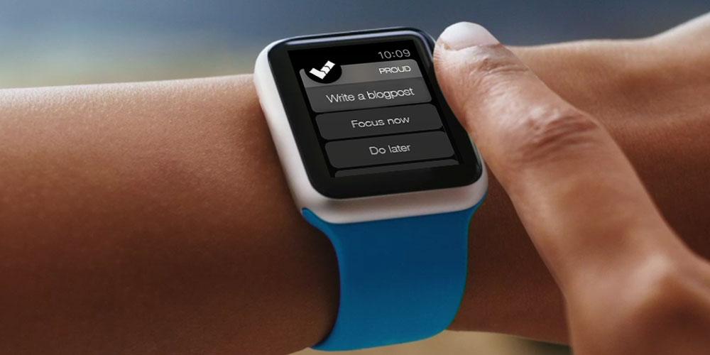 初代Apple Watch Sportのブルーバンド