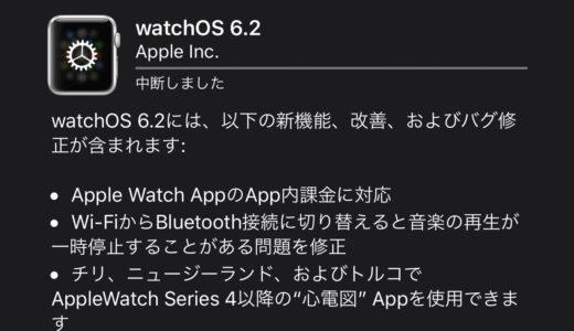 Apple、watchOS 6.2をリリース!watchアプリのアプリ内課金対応など