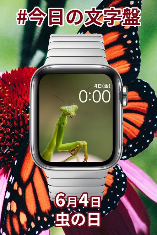 6月4日「虫の日」のApple Watch文字盤